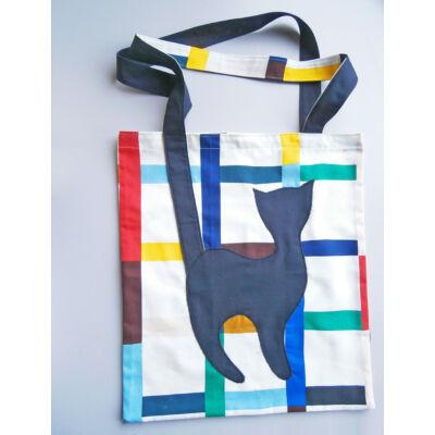 Cicás táska, színes