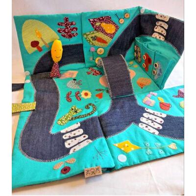 Kockac textiljáték