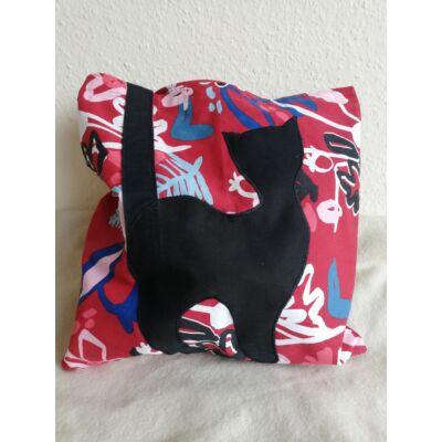 Cicás táska, piros mintás